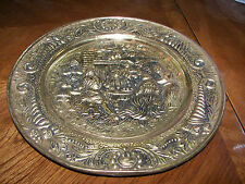 Vintage Stamped Metal Plate Wall Hanging Decorative Copper/Brass Look England