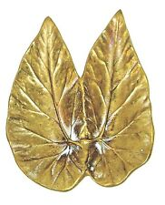 Vintage ca. 1948 Cast Brass Angel Wing Begonia Leaf Tray Virginia Metalcrafters