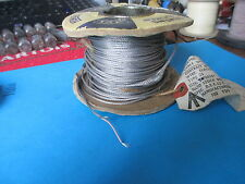 "VINTAGE SCREENED STRANDED 7/0076""  AUDIO CABLE. 1 METER LENGTH."
