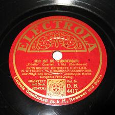 FIDELIO - Beethoven Quartett 1-2 Akt - Schellack 78 rpm