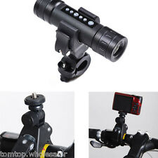 "Bike Motorcycle Handlebar Tripod Mount Holder For GoPro Camera 1/4"" Screw New"
