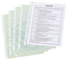 100 X A4 CLEAR PUNCHED POCKETS 50 MICRON TOP OPENING KF24001