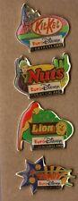 lot de 4 pin's disney Eurodisney / barres chocolatées (nuts, sundy, lion...)