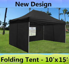 10' x 15' Pop Up Canopy Party Tent Gazebo EZ - Black - E Model