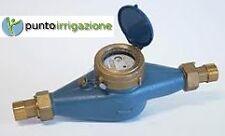 """Contatore acqua in ghisa filettato 1""""1/2 + raccordi in ottone uso irriguo pozzi"""