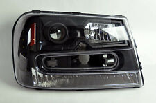 Chevy Trailblazer 02-09 Black LED DRL Projector Headlights Pair RH LH