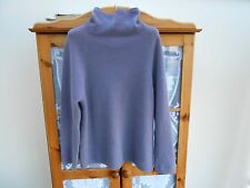 PURE COLLECTION lilac 100% CASHMERE relaxed POLO neck jumper, size 16