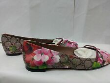 New GUCCI GG Blooms Flora ballet flat women size G38.5/US 8.5 special edition