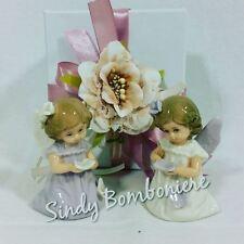 Bomboniere per battesimo, in porcellana Angeli bambine confezionate confetti