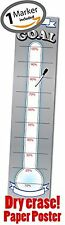 Goal Setting Thermometer - Dry Erase Thick Paper Poster - Fundraising - - Goal