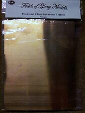 Brass sheet 0.01mm thick 165mm x 130mm approx