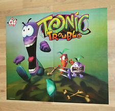 1999 N64 Tonic Trouble / Rayman 2 The Great Escape rare Poster 54x44cm