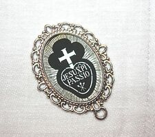 Custom Silver Rosary Center Part/Rosary Making/Passionist Insignia # 14