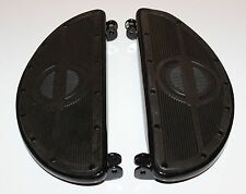 Harley 45 Panhead Floorboards Rubber Pads Rivited Black Half Moon 50603-40 (28)