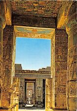 BR3098 Luxor , Medinet Habu: Interior view Ramses Temple   egypt