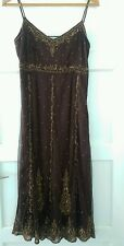 laura ashley brown beaded sequinned flapper style dress