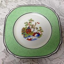Vintage, Rare, Empire Ware, England, Green Trim Gaudy Blue Willow, 5in Plate