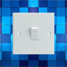 Blue Tile Effect/Print Electrical Light Switch Surround Printed Vinyl Sticker