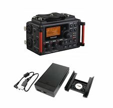 TASCAM DR-60DmkII 4-Channel Audio Portable DSLR Film Recorder w/ Battery Pa