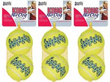 6 x Large Air Kong Tennis Balls Ball Dog Toy Dental Friendly Strong bigger