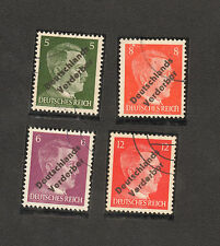 RARE LOT of 4 1945 STAMP GERMANY COMPLETE MEISSEN Deutschlands VERDERBER