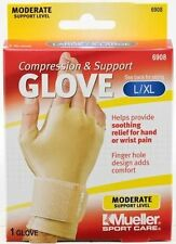 Mueller 6908 Compression & Support Arthritis Carpal Tunnel Glove LG/XL Beige ea