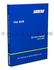 Fiat X19 Factory Shop Manual 1974 1975 1976 1977 1978 Repair Service X 19 X1 9