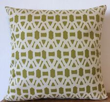 """Harlequin Scion 'Lace' 18"""" cushion cover olive"""