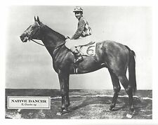 NATIVE DANCER 8X10 PHOTO HORSE RACING PICTURE JOCKEY ERIC GUERIN