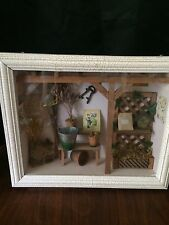 Shadow Box Gardner's Greenhouse Miniature Tools Plant Displays