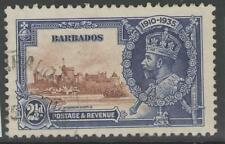 BARBADOS SG243 1935 SILVER JUBILEE 2½d FINE USED