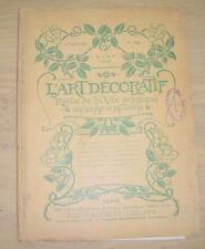 ART NOUVEAU : L'ART DECORATIF n°126 1909 HENRY DE WAROQUIER PAUL LEBRET