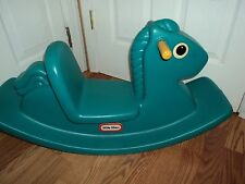 VINTAGE LITTLE TIKES TODDLER CHILD 1-3 YEARS TEAL PLASTIC ROCKING HORSE ROCKER