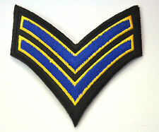 STRIPES NAVY ARMY MILITARY B Embroidered Iron Sew On Cloth Patch Badge  APPLIQUE