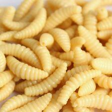 50PCS 2cm 0.3g mouche grub soft lure baits odeur worms glow crevettes pêche leurre