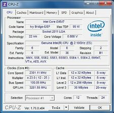 Intel Xeon E5-2692 v2 ES LGA2011 12C 2.1GHz Compatible with X79 i7 3960X 4960X