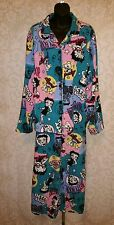 Betty Boop Woman Fleece Vtg Betty On A Motorcycle  2 Pc. Pajama Set Sz 3x #2140