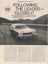Chevrolet Caprice Estate Wagon 1973 USA Market Road Test Brochure Road Test