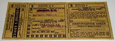 RARE Vintage Bus Ticket Atlantic Greyhound Corp. West Virginia 1945 WWII Era