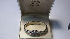 Vintage Timex ladies mechanical watch in vintage TX box,runs but overwound