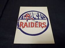 1972-73 OPC O-Pee-Chee WHA Logo New York Raiders UNPUNCHED - ex (pl)
