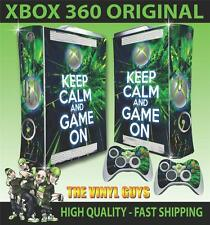 XBOX 360 OLD SHAPE STICKER KEEP CALM AND GAME ON SKIN & 2 PAD SKINS