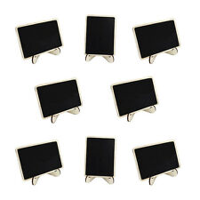 10pcs Mini Rectangle Chalkboards with Support for Party Table Place Card Signs