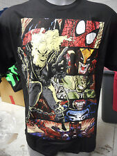 Mens Licensed Marvel Ghostrider Spiderman Heroes Shirt New L
