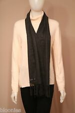 "Club Room 100% Cashmere Dark Gray Scarf 60"" x 12"""