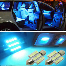 "2x Aqua Blue 1.25"" 31mm 12-SMD DE3175 DE3022 LED Bulbs For Car Interior light"