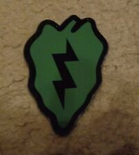 ARMY PATCH,SSI,IFF, 25TH INFANTRY DIVISION, GREEN, WITH VELCR
