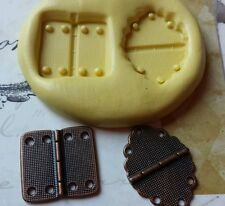 2 Part HINGE Silicone Mold for polymer clay, wax, candy, fondant, resin