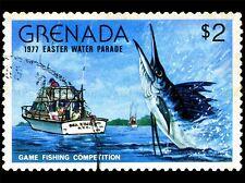 Granada Vintage Estampilla pesca Marlin Foto impresión arte cartel bmp1691a