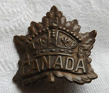 Military WW1 Canadian General Infantry Cap Badge Roden Bros Canada (1728)